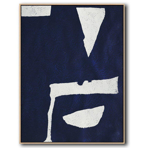 Navy Blue Minimal Art #NV29B-Minimal Art-CZ Art Design(Celine Ziang Art)