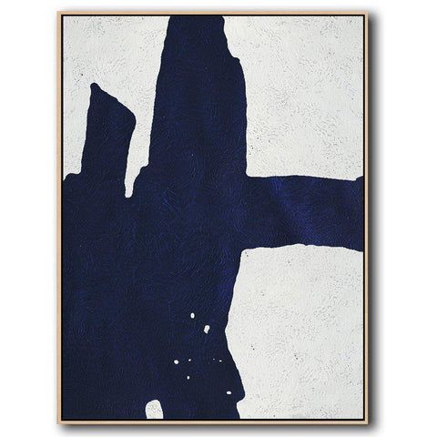 Navy Blue Minimal Art #NV90B-Minimal Art-CZ Art Design(Celine Ziang Art)
