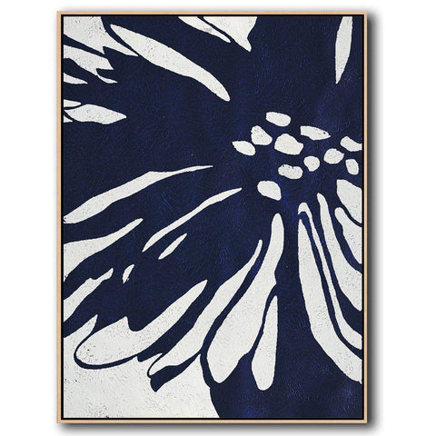 Navy Blue Minimalist Art #NV287B-Minimal Art-CZ Art Design(Celine Ziang Art)