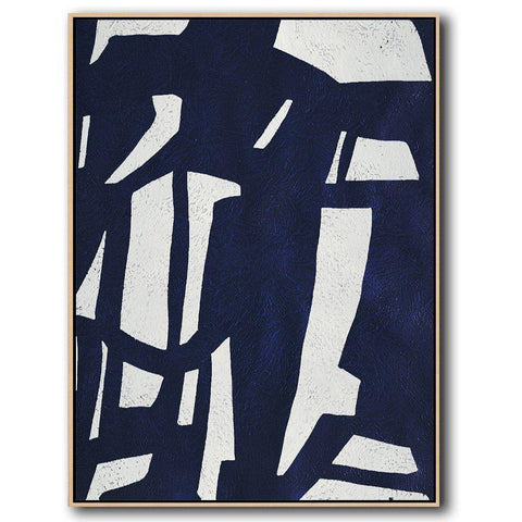 Navy Blue Minimalist Art #NV296B-Minimal Art-CZ Art Design(Celine Ziang Art)