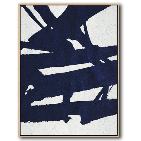 Navy Blue Minimalist Art #NV300B-Minimal Art-CZ Art Design(Celine Ziang Art)