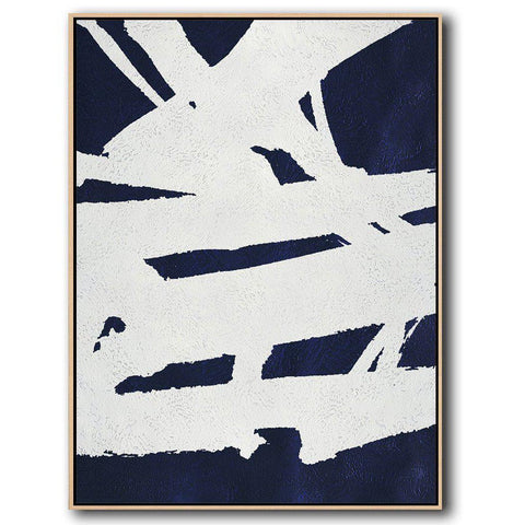 Navy Blue Minimalist Art #NV301B-Minimal Art-CZ Art Design(Celine Ziang Art)