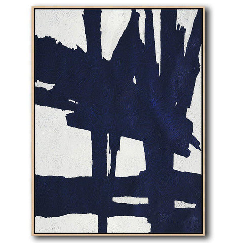 Navy Blue Minimalist Art #NV302B-Minimal Art-CZ Art Design(Celine Ziang Art)