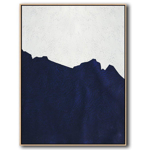 Navy Blue Minimalist Art #NV308B-Minimal Art-CZ Art Design(Celine Ziang Art)