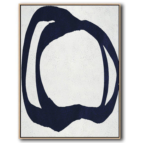 Navy Blue Minimalist Art #NV313B-Minimal Art-CZ Art Design(Celine Ziang Art)