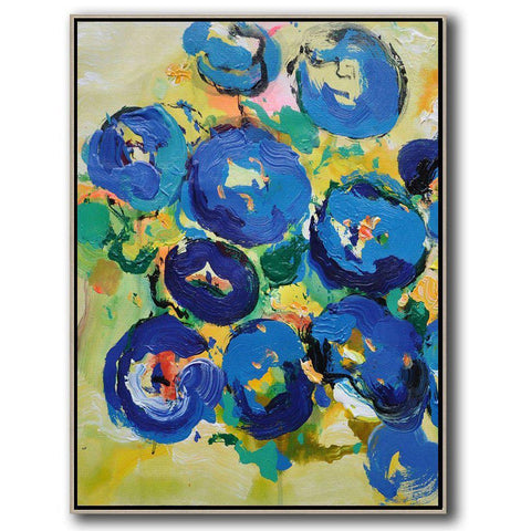 Palette Knife Abstract Flower Painting #C14B-Abstract Art-CZ Art Design(Celine Ziang Art)