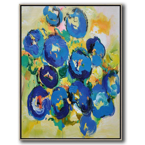 Palette Knife Abstract Flower Painting #C7B-Abstract Art-CZ Art Design(Celine Ziang Art)