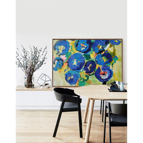 Palette Knife Abstract Flowers #C14C-Abstract Art-CZ Art Design(Celine Ziang Art)