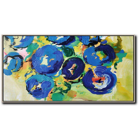 Palette Knife Abstract Flowers #C14D-Abstract Art-CZ Art Design(Celine Ziang Art)