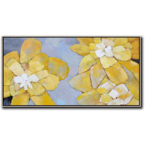 Panoramic Abstract Flower Art #X42D-Abstract Art-CZ Art Design(Celine Ziang Art)