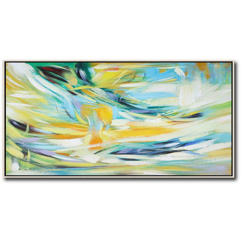 Panoramic Abstract Landscape Art #X26D-Abstract Art-CZ Art Design(Celine Ziang Art)