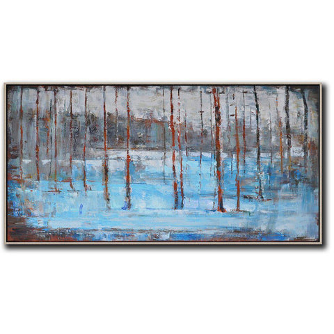 Panoramic Abstract Landscape Painting LX17D-Abstract Art-CZ Art Design(Celine Ziang Art)