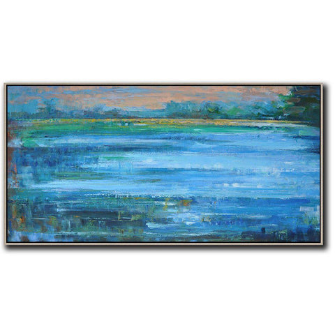 Panoramic Abstract Landscape Painting LX18D-Abstract Art-CZ Art Design(Celine Ziang Art)