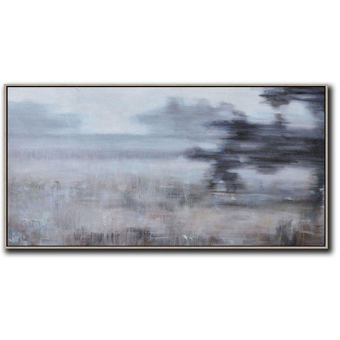 Panoramic Abstract Landscape Painting LX21D-Abstract Art-CZ Art Design(Celine Ziang Art)