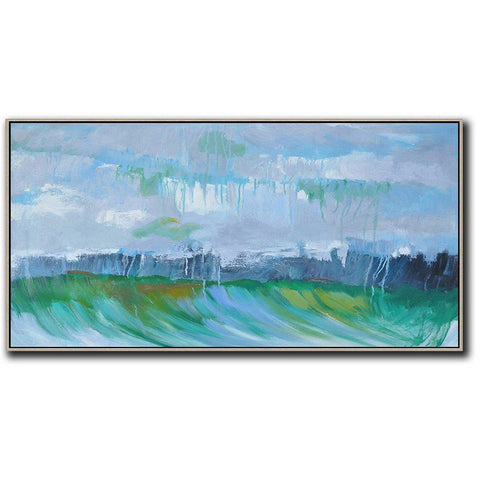 Panoramic Abstract Landscape Painting LX24D-Abstract Art-CZ Art Design(Celine Ziang Art)