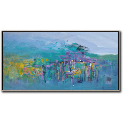 Panoramic Abstract Landscape Painting LX28D-Abstract Art-CZ Art Design(Celine Ziang Art)