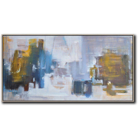 Panoramic Abstract Landscape Painting LX32D-Abstract Art-CZ Art Design(Celine Ziang Art)