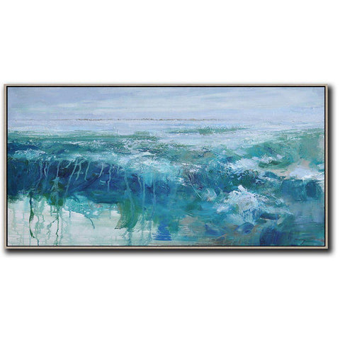 Panoramic Abstract Landscape Painting LX41D-Abstract Art-CZ Art Design(Celine Ziang Art)
