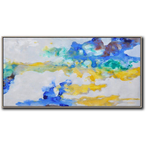Panoramic Abstract Landscape Painting LX44D-Abstract Art-CZ Art Design(Celine Ziang Art)
