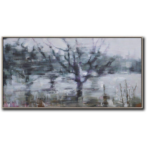 Panoramic Abstract Landscape Painting LX62D-Abstract Art-CZ Art Design(Celine Ziang Art)