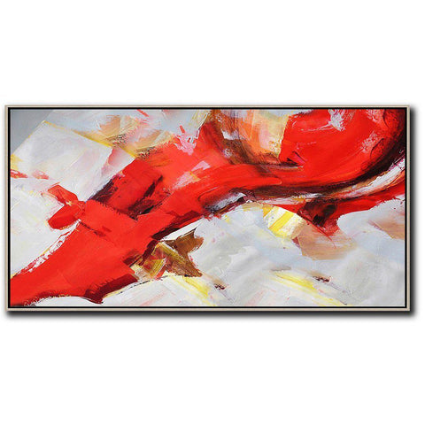 Panoramic Palette Knife Abstract Art #C20E-Contemporary Art-CZ Art Design(Celine Ziang Art)