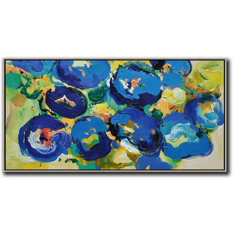 Panoramic Palette Knife Abstract Floral #C7D-Abstract Art-CZ Art Design(Celine Ziang Art)