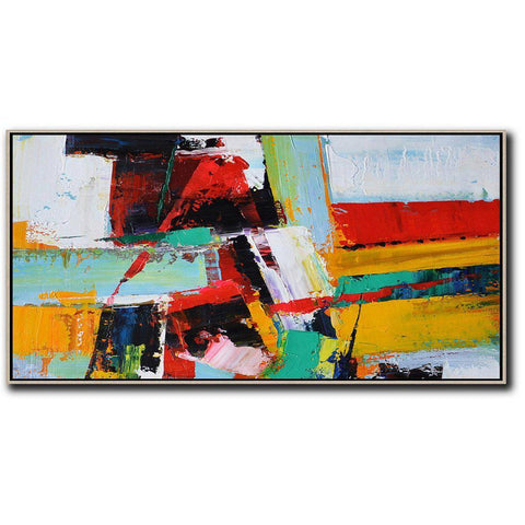 Panoramic Palette Knife Contemporary Art #C25D-Contemporary Art-CZ Art Design(Celine Ziang Art)