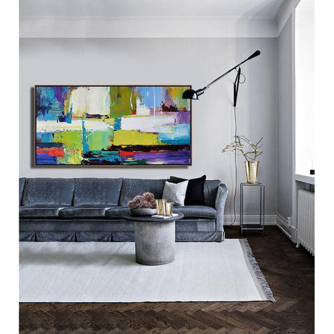Panoramic Palette Knife Contemporary Art #C2D-Contemporary Art-CZ Art Design(Celine Ziang Art)