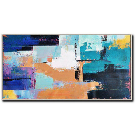 Panoramic Palette Knife Contemporary Art #C37D-Contemporary Art-CZ Art Design(Celine Ziang Art)