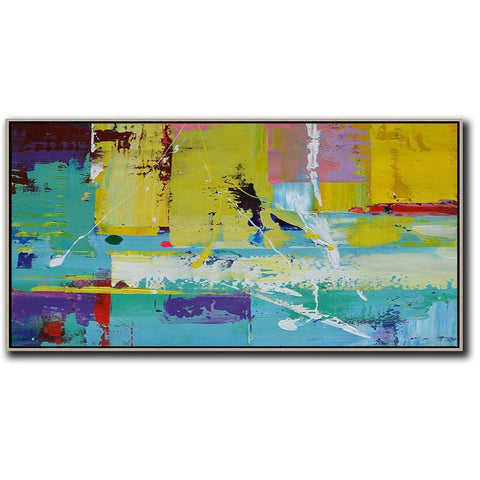 Panoramic Palette Knife Contemporary Art #C3D-Contemporary Art-CZ Art Design(Celine Ziang Art)
