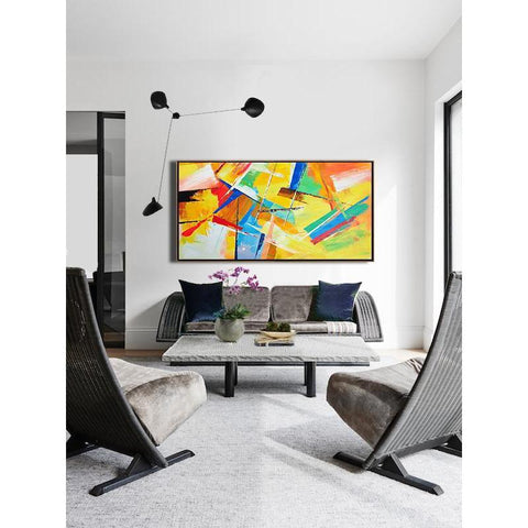 Panoramic Palette Knife Contemporary Art #C42D-Contemporary Art-CZ Art Design(Celine Ziang Art)