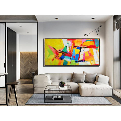 Panoramic Palette Knife Contemporary Art #C43D-Contemporary Art-CZ Art Design(Celine Ziang Art)