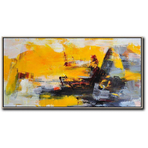 Panoramic Palette Knife Contemporary Art #C45D-Contemporary Art-CZ Art Design(Celine Ziang Art)