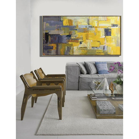 Panoramic Palette Knife Contemporary Art #C53D-Contemporary Art-CZ Art Design(Celine Ziang Art)