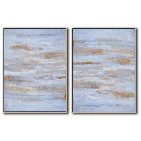 Set of 2 Abstract Landscape Oil Painting #S156-Abstract Art-CZ Art Design(Celine Ziang Art)