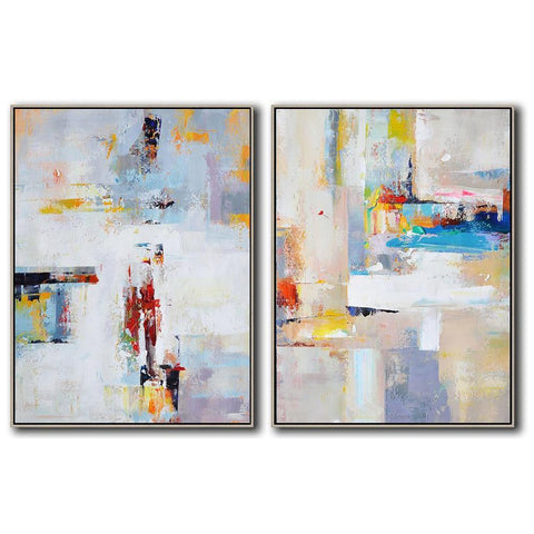 Set of 2 Contemporary Art #S100-Contemporary Art-CZ Art Design(Celine Ziang Art)
