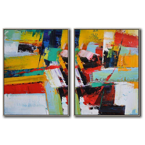 Set of 2 Contemporary Art #S101-Contemporary Art-CZ Art Design(Celine Ziang Art)