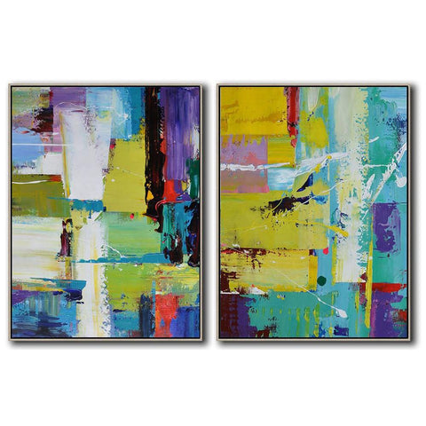 Set of 2 Contemporary Art #S102-Contemporary Art-CZ Art Design(Celine Ziang Art)