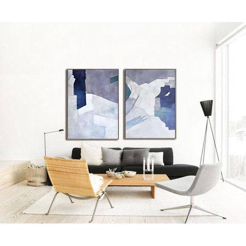 Set of 2 Contemporary Art #S105-Contemporary Art-CZ Art Design(Celine Ziang Art)