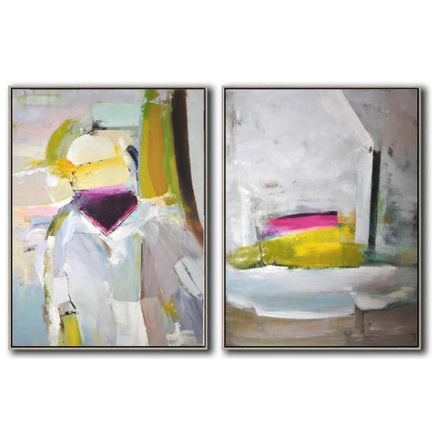 Set of 2 Contemporary Art #S107-Contemporary Art-CZ Art Design(Celine Ziang Art)