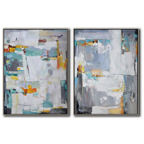 Set of 2 Contemporary Art #S109-Contemporary Art-CZ Art Design(Celine Ziang Art)