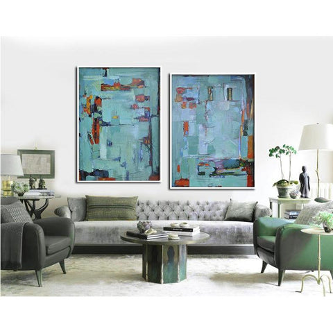 Set of 2 Contemporary Art #S110-Contemporary Art-CZ Art Design(Celine Ziang Art)
