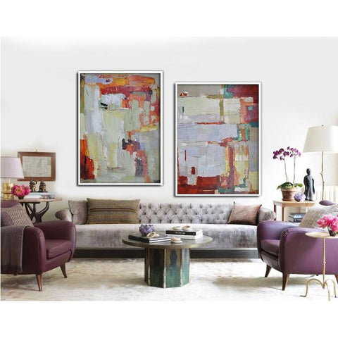 Set of 2 Contemporary Art #S111-Contemporary Art-CZ Art Design(Celine Ziang Art)