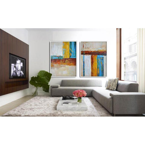 Set of 2 Contemporary Art #S119-Contemporary Art-CZ Art Design(Celine Ziang Art)