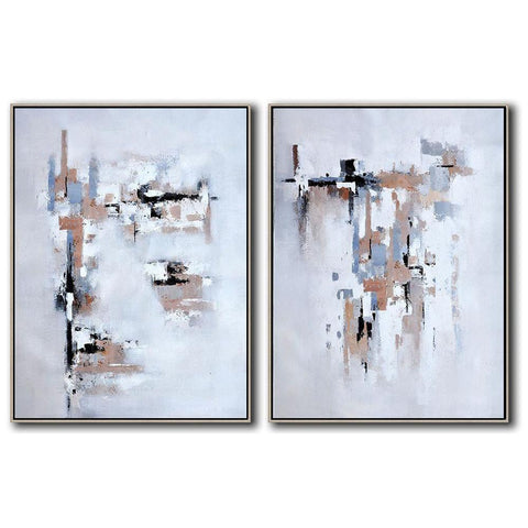 Set of 2 Contemporary Art #S120-Contemporary Art-CZ Art Design(Celine Ziang Art)