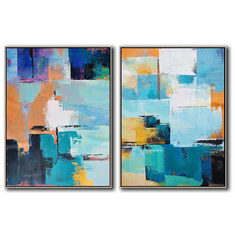 Set of 2 Contemporary Art #S122-Contemporary Art-CZ Art Design(Celine Ziang Art)