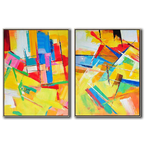 Set of 2 Contemporary Art #S125-Contemporary Art-CZ Art Design(Celine Ziang Art)