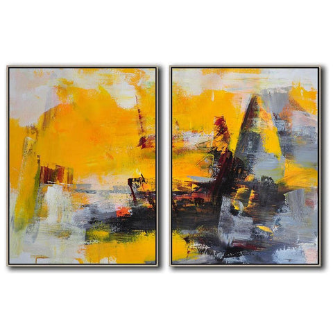 Set of 2 Contemporary Art #S127-Contemporary Art-CZ Art Design(Celine Ziang Art)
