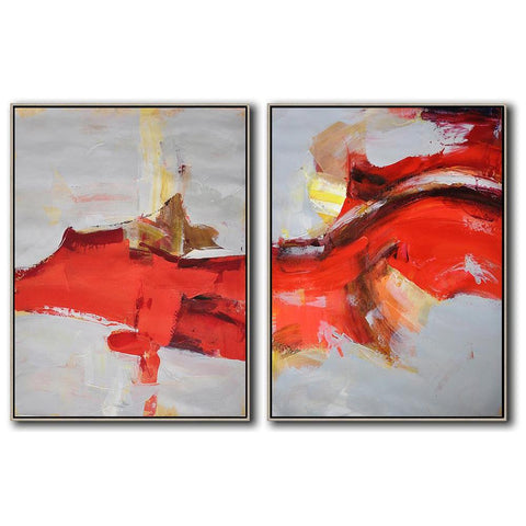 Set of 2 Contemporary Art #S130-Contemporary Art-CZ Art Design(Celine Ziang Art)