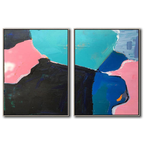 Set of 2 Contemporary Art #S131-Contemporary Art-CZ Art Design(Celine Ziang Art)